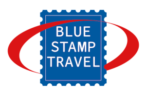 Blue Stamp Travel Logo