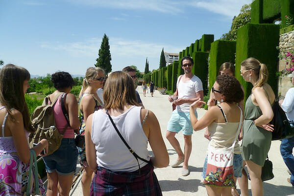 Students on excursion the Alhambra