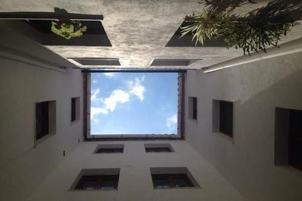 The view from the courtyard to the sky