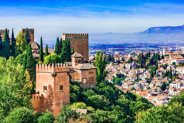 The Granada city skyine