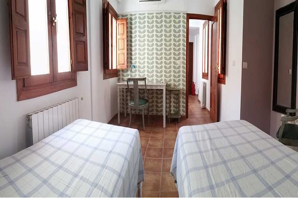 A double room at the school residence.