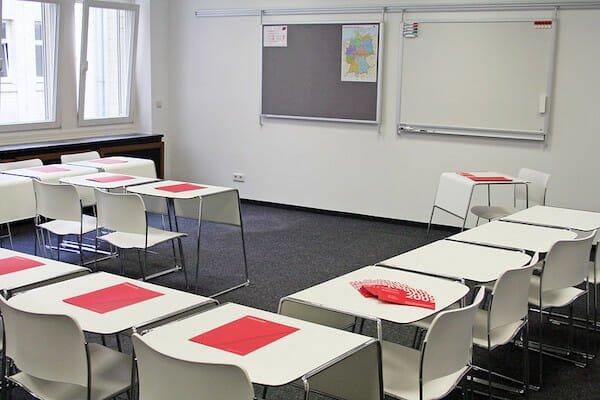 Language school classroom