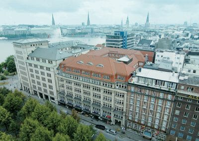 Language school building in Hamburg