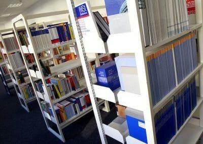 Language school library.